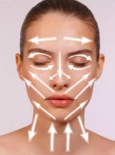 Нанесение крема на кожу лица